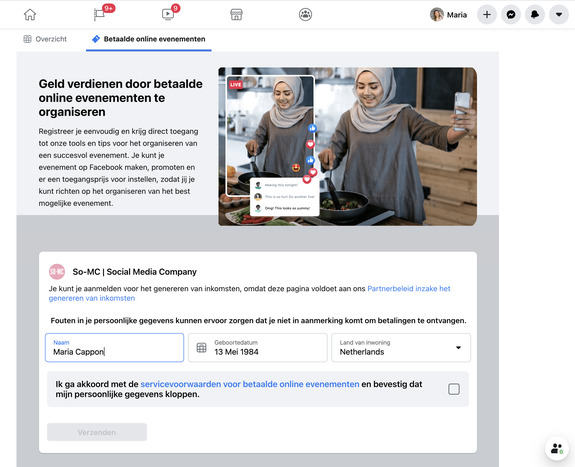 Geld verdienen met Facebook online workshops