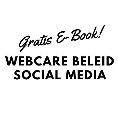 Webcare E-book beleid Social-Media
