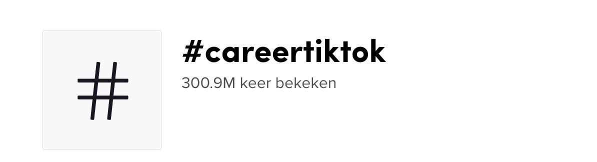 #CareerTikTok