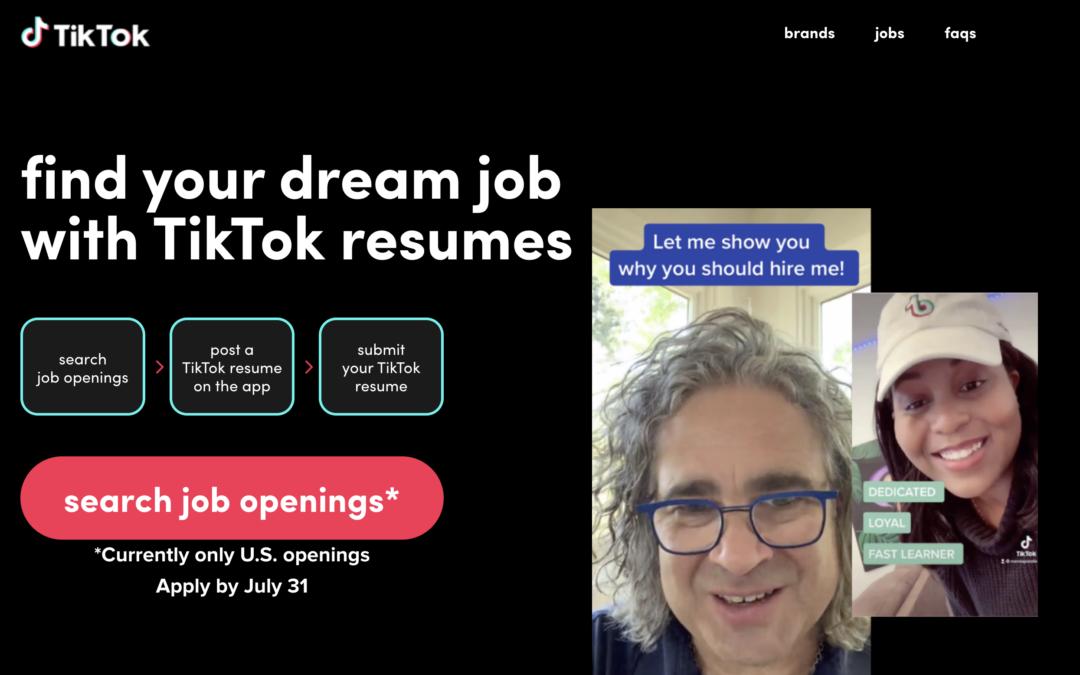 Wat is TikTok Resumes? Solliciteren via TikTok