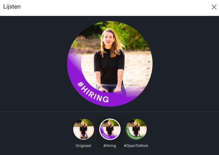 #Hiring lijst toevoegen op LinkedIn profiel