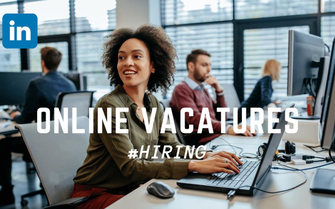 LinkedIn vacatures & #Hiring lijst